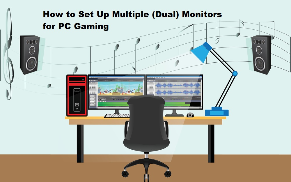 How to set up dual monitor with desktop game